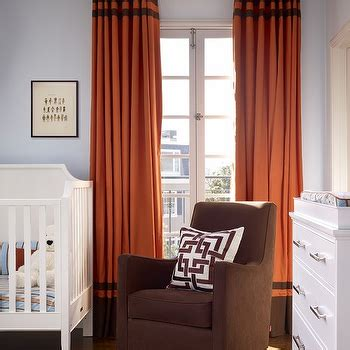 orange and brown living room curtains two tone window panels design ideas
