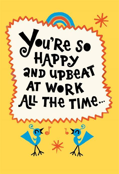 You're So Upbeat Funny Admin Professionals Day Card