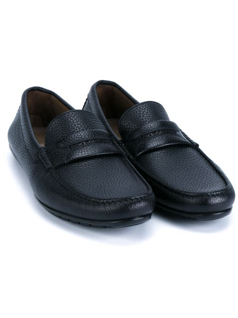 dolce and gabbana loafers dolce gabbana leather driving loafers in black for