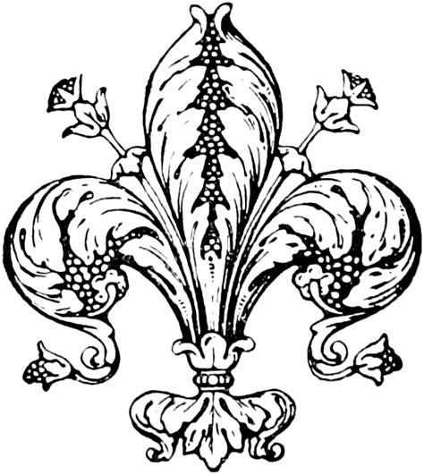 vintage fleur de lis clip art image oh so nifty vintage