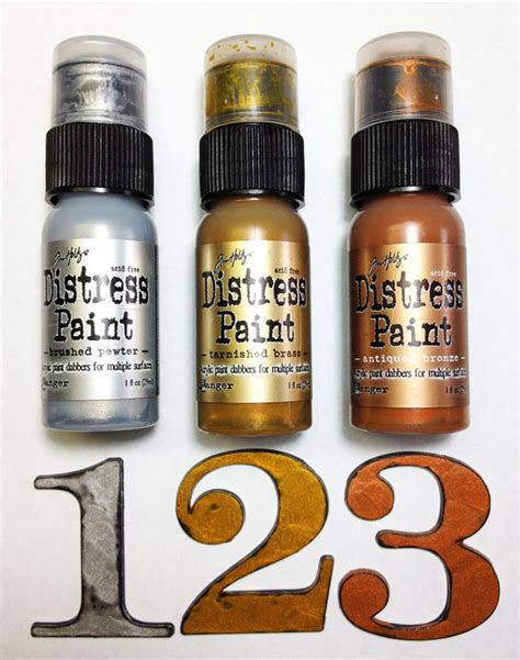 new paint new metallic distress paint tim holtz