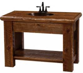 Vanities Rustic Modern Rustic Vanity Made Of Circle Sawn Pine The Log