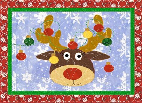 pattern christmas placemats rudolph christmas placemats by kindergdesigns craftsy