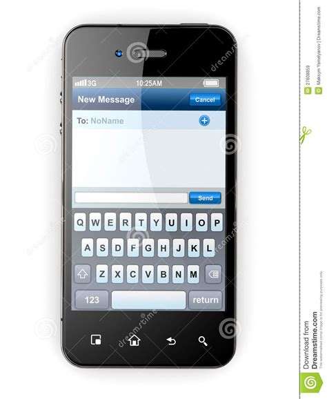 mobile phone texting mobile phone with sms menu screen space for text royalty