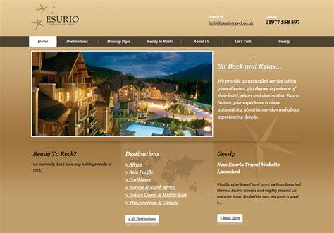 homepage design inspiration esurio travel categorized website design inspiration and