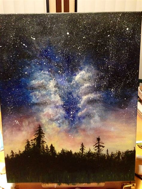 acrylic paint galaxy original acrylic galaxy painting painted by dfletcher89