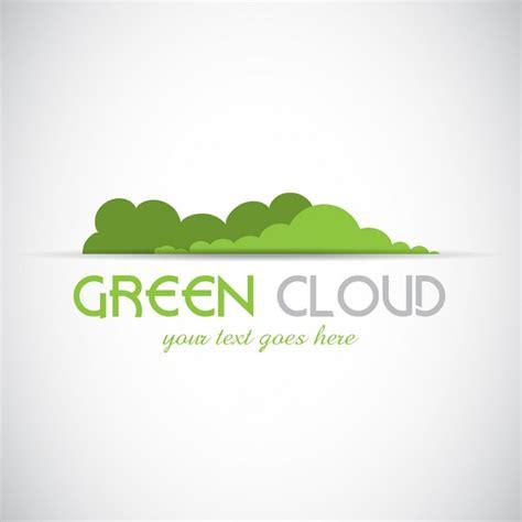 abstract logo   green cloud  vector