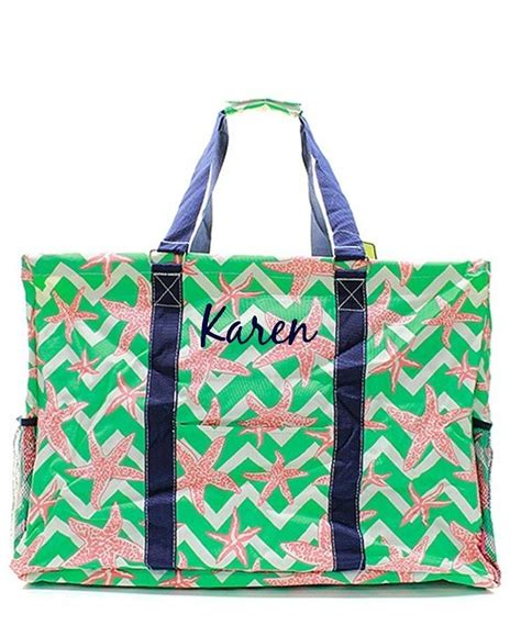 personalized  extra tall large utility tote bag basket