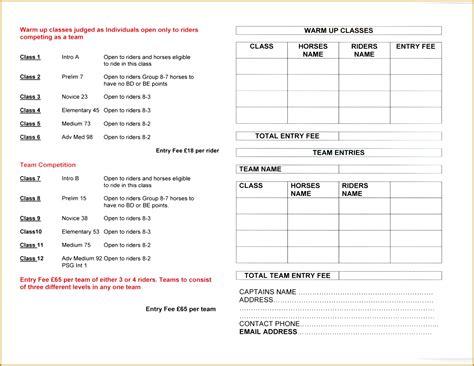 show entry form template 5 show entry form template fabtemplatez