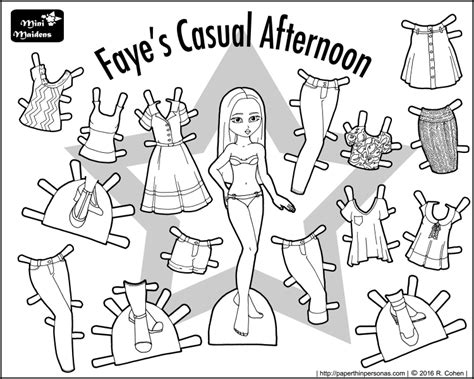 Paper Doll Clothes Coloring Pages by Dolls Archives Paper Thin Personas
