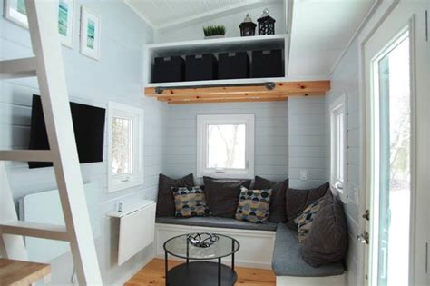 tiny house seating tiny house construction company cooks up a new model