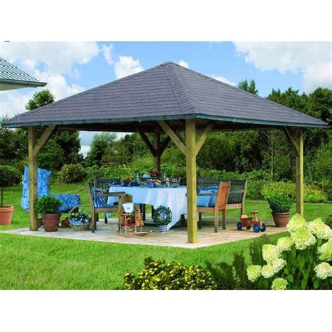 kiosque en bois pour jardin kiosque pavillon en bois fsc carr 233 holm 1 4 31x4 31m karibu