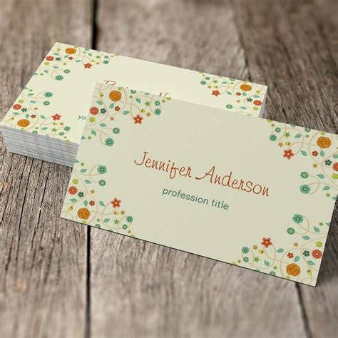chic business card templates psychologist chic nature stylish sided standard