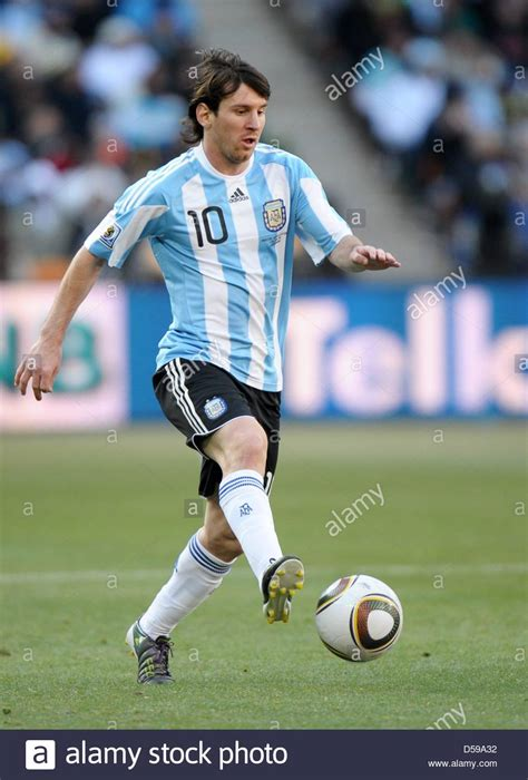lionel messi of argentina controls the during the