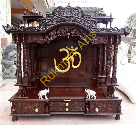code 73 wooden carved teakwood temple mandir wooden
