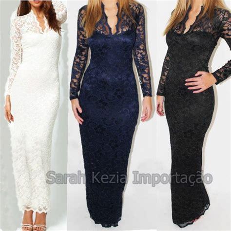Maxi Detail Renda 1 vestido renda festa lace maxi dress agata loja