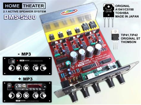 jual kit  home theater speaker aktif dms  mp