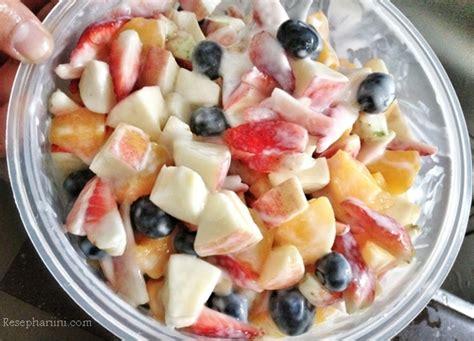 cara membuat salad sayur pakai mayones resep salad buah yoghurt saus mayonaise keju ala resto