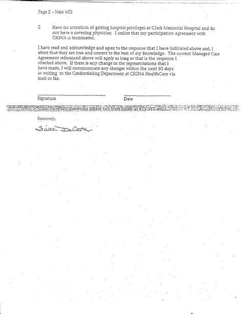 Cancellation Participation Letter Na Health Cigna Letter