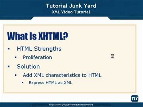 xml tutorial video xml tutorial 67 introduction to xhtml youtube