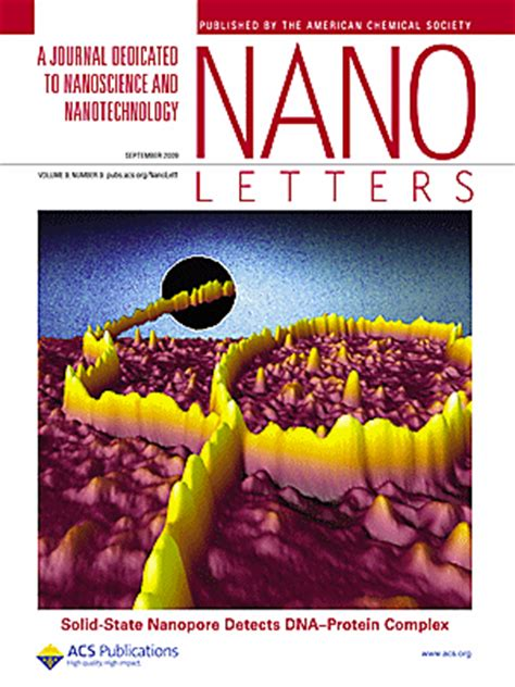 nano letters cover letter cees dekker lab