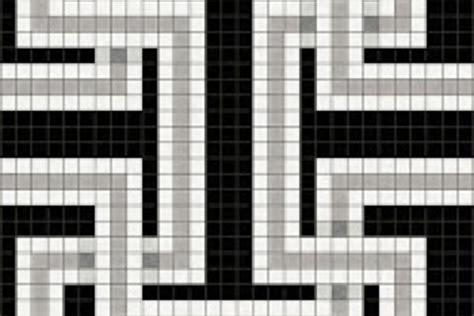 Mosaic Key Pattern | black greek key tile pattern athena lunar by artaic