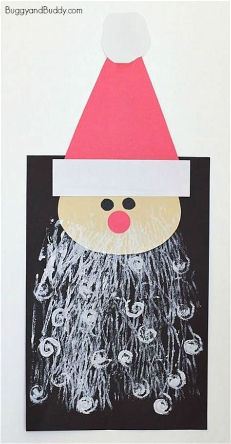 santa craft for kids with printed beards artworks yarns