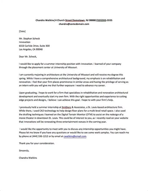write  good letter    internship quora