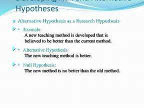 hypothesis template hypothesis exles alisen berde