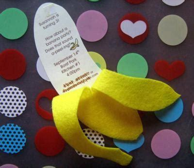 banana themed banana split party invitation go bananas