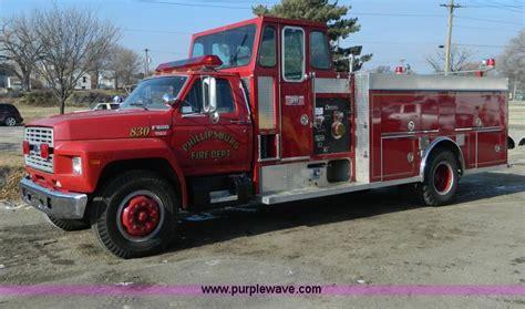 D6085 Jpg 1988 Ford F800 Pumper Fire Truck 4 149 Miles