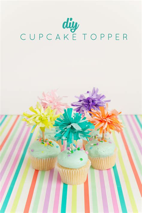 How To Make Paper Cupcake Toppers - tissue paper cupcake toppers tell and