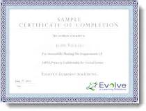 hipaa certificate template photo sle of certificate of completion images