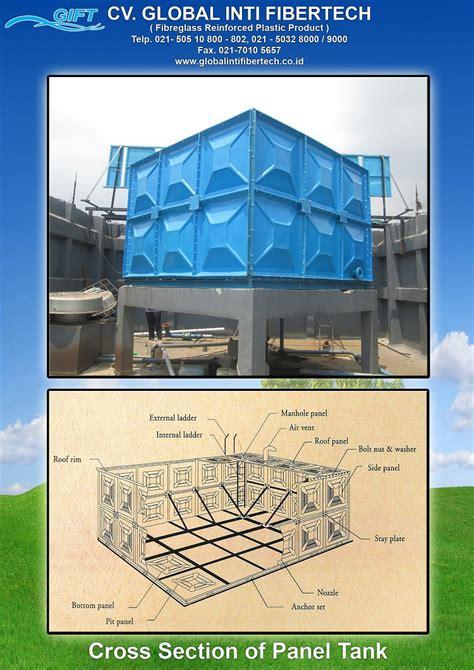 Tangki Panel Fiber Roof Tank Panel Penungan Air tangki fiberglass jual tangki air fibreglass tangki air