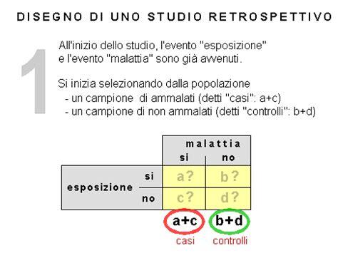 studi caso controllo studi prospettivi e studi retrospettivi