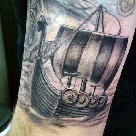 viking longship tattoo design 70 viking tattoos for germanic norse seafarer designs