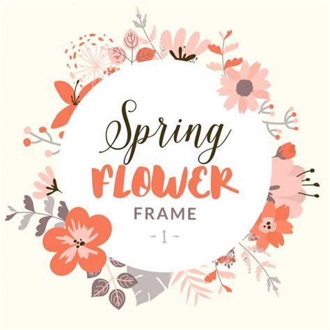 cornice gratis cornice rotonda con decorativi fiore di primavera