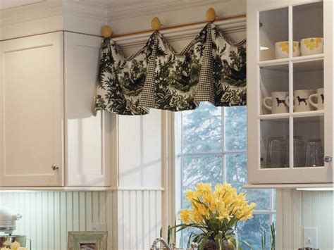 Kitchen Windows Curtains Adding Color And Pattern With Window Valances Window Treatments Ideas For Curtains Blinds