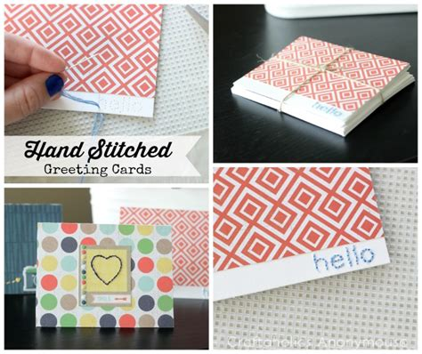 Free Handmade Cards Template by Craftaholics Anonymous 174 Stitched Note Cards With