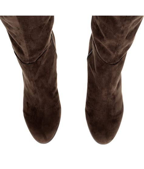h m knee high boots in brown lyst