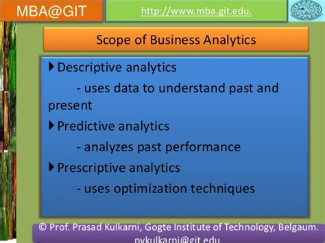 Technology Management Mba Scope by Business Analytics Module 5 14mba14 According To New Vtu