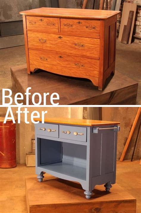 How To Turn An Dresser Into A Kitchen Island turn an dresser into useful kitchen island great diy ideas deco furniture