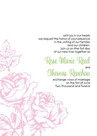 Pink Rose Wedding Invitations Kits