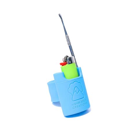 Hsc Detox by Hsc Slappack Silicone Lighter Holster Pale Blue The Bong