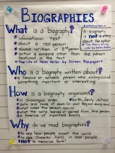 autobiography anchor chart anchor charts pinterest 1000 images about reading biography on pinterest