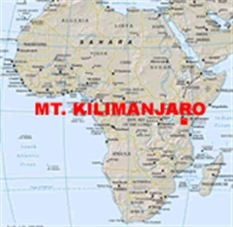 africa map kilimanjaro mt kilimanjaro map struik foods