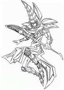 Here Home Yu Gi Oh The Dark Magician From Coloring Page sketch template