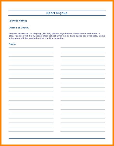 potluck signup sheet template word 6 potluck template word resumed