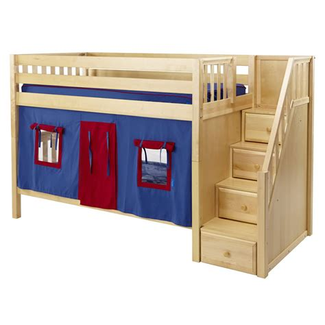 playhouse bunk beds blue and red stacker playhouse bunk bed in natural by