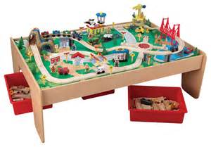 Children S Train Table Kidkraft Kids Playroom Waterfall Mountain Train Set And